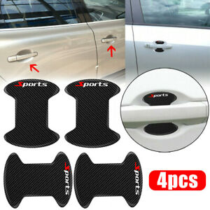 8pcs Door Handle Anti-Scratch Sticker Carbon Fiber Car Protector Guard Cover