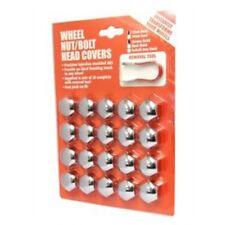 21mm Chrome Nut/bolt Cover 20pcs With Puller - Nut Bolt Hexagonal Protectors