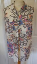 NEXT Ladies Sleeveless Tunic Blouse Multi Floral. Size 10. NWT