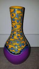 70er Fat Lava Lila-Gelb Vase Keramik 70s WGP Purple Yellow 21 cm