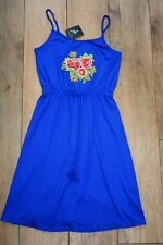 NEW&TAGS Pretty strappy sun dress SIZE 8 embroidered applique stretch party