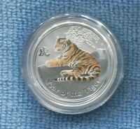 2010 50 Cents ½ oz Lunar II Year of the Tigers Colored Australia in capsule