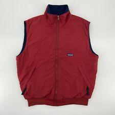 Patagonia Mens Nylon Vest Full Zip Sleeveless Fleece Lined Red Size Large
