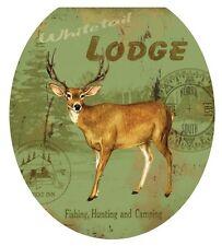 Toilet Tattoos TT-1059-R Deer Lodge, Round