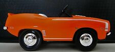 1 Pedal Car Chevy 1969 Camaro Chevrolet Red/Orange Vintage Midget Metal Model