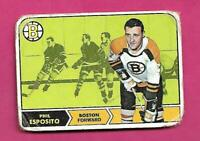 1968-69 TOPPS # 7 BRUINS PHIL ESPOSITO CREASED CARD (INV# D2658)