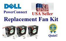 Quiet Dell PowerConnect 2748 Fan Kit (XP166) Set of 3x New Fans 18dBA each