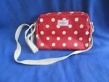 Cath Kidston London Crossbody Messenger Polka Dot Bag Purse Oilcloth Red Tan