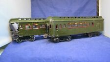 IVES Prewar Wide/Standard Gauge Early 187 & 189 Olive Pullmans! CT