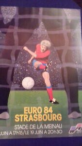 EURO 84 FOOT STRASBOURG  affiche NEUVE