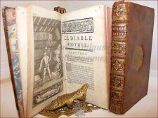 LESAGE: LE DIABLE BOITEUX (IL DIAVOLO ZOPPO) 2 voll 1744 Mortier Legatura