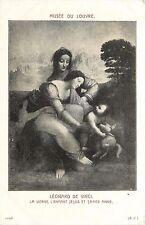 Musee Du Louvre Leonard de Vinci La Vierge L'Enfant Jesus St Ann France Postcard