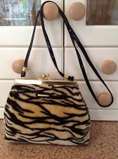 GREAT PICARD ANIMAL STRIPE FAUX FUR BAG USED GREAT CONDITION