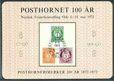 "NORWAY 1972 ""POSTHORNET 100AR"","