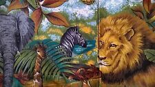 Tote Bag Fabric Handmade Jungle Zebra Lion Animal School Child's Books Toys NEW!