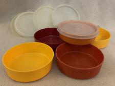 Vintage Tupperware 5 Little Wonder Storage #1286 Bowls Lids Snack Lunch