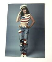 Vtg Celebrity Photo Carol-Ann Plante Harry and the Hendersons candid patriotic