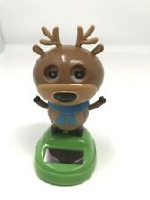 Solar Power Dancing Suncatcher/Bobble Head Toy: Reindeer New