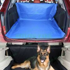 Blue Fabric Car Hatchback Pets Dog Cat Cargo Liner Mat Protector Organizer Cover
