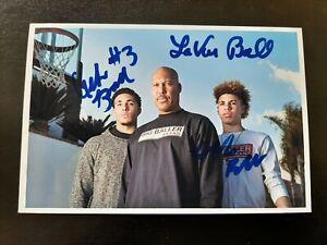 LaMelo Ball auto autograph signed photo family Lavar LiAngelo