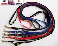 "Strong Police Style Long Dog Training Lead Leash Adjustable ""Paws"" Pattern"