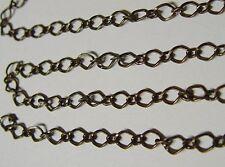 25 Ft Antique Brass 6x10mm Diamond Link Chain Long + Short Style ~ SteamPunk