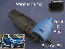 Front & Rear Windscreen Washer Pump Smart ForTwo Coupe 2007 2008 2009 2010 2011