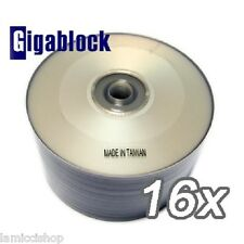 50 pcs SILVER INKJET HUB PRINTABLE DVD-R 1-16x Blank Media