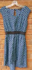 One Clothing Women's Sz Small High Low Tunic Dress Navy Blue/Mint Casual Summer