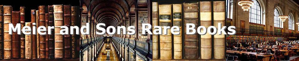 Meier And Sons Rare Books