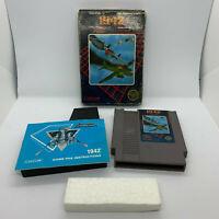 1942 Nintendo NES Capcom Complete CIB 3 Screw Free Shipping