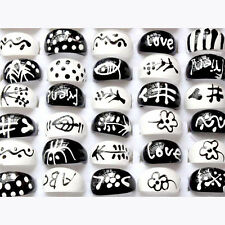20Pcs Wholesale Mixed Lots Fashion Cute Rings Children/Kids Resin Rings Black