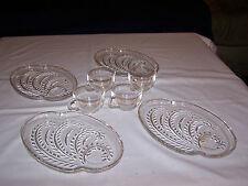 Hopsitality Crystal Glass Snack Set; 4 Plates & 4 Cups