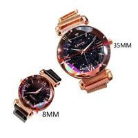Luxus Frauen Uhr Starry Sky Magnetische Band Quarz Uhren Diamant Armbanduhr J1Y3