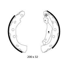 Mintex Rear Brake Shoe Set MFR635  - BRAND NEW - GENUINE - 5 YEAR WARRANTY