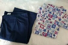 Women's Medical Uniform Scrubs 2 Pc. Floral TL top XS* Dickies pants S*