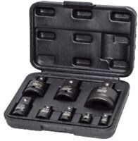 Autojack Heavy Duty 8pc Impact Wrench Socket Adaptor Converter Reducer Set Case