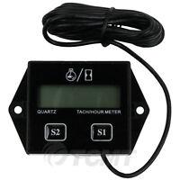 Digital Tach Hour Meter Tachometer Gauge For 2 or 4 stroke Gas Engines ATV UTV