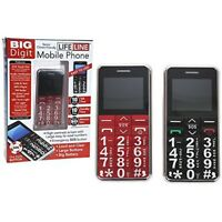 Big Digit Mobile Phone With Large Digits Sos Button Unlocked Great Senior -