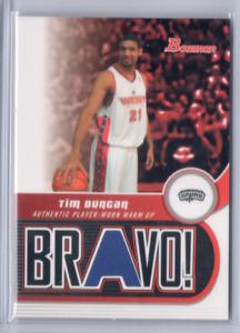 2005-06 BOWMAN DRAFT TIM DUNCAN ALL STAR JERSEY PATCH BRAVO! RARE SP SPURS