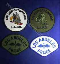 LAPD LOS ANGELES POLICE Air Support Division Official Patches Set of 4 - NEW!!
