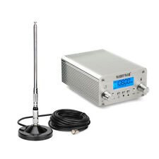 New 15W FM Transmitter Radio Stereo Station Wireless Broadcast 87~108MHz+Antenna