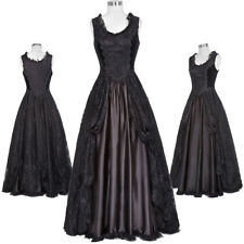 Retro Victorian Formal Dress Gown Gothic Theater Steampunk Vintage Costume Party