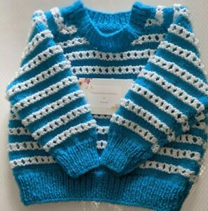 Hand knitted Baby's Jumper / pullover 6-12 months