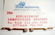 1 Pr Comp Replacement Brushes RAM 222 426A & Pittman 704 Racing Motor NOS #704