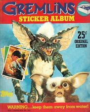 1984 Topps Gremlins  empty Sticker Yearbook album NRMT