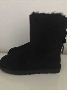UGG Bailey Bow Boots Uk Size 10.5 Excellent Condition