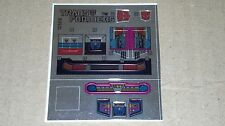 A Transformers premium quality replacement sticker/decal sheet for G1 Camshaft