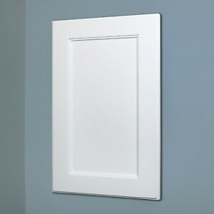 White Shaker Style Recessed Medicine Cabinet with no mirror - 2 sizes