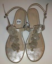 Nicole Brand Women's Sandals Gold Flower 9.5 Wide